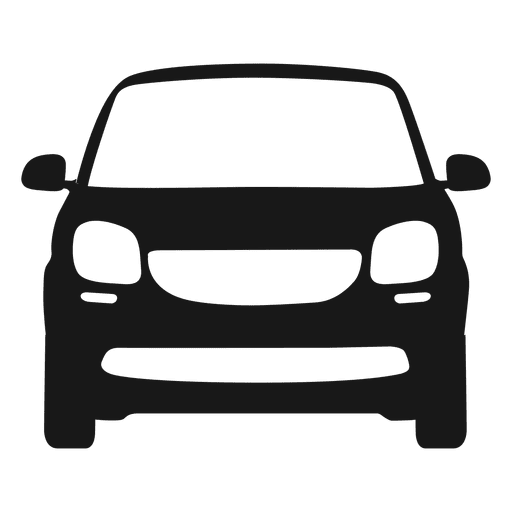 512x512 Smart Car Front View Silhouette