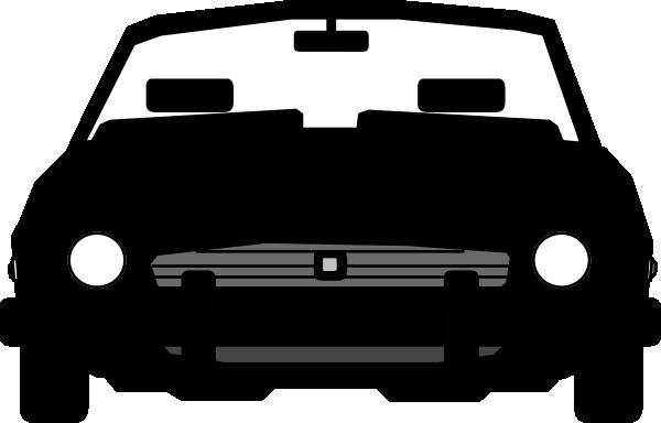 600x384 Car Silhouette Clipart