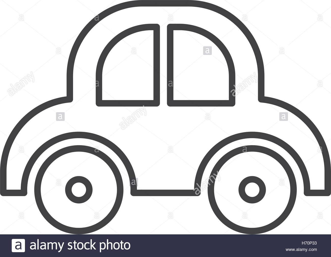 1300x1010 Silhouette Of Baby Car Toy Over White Background. Vector