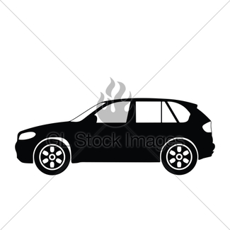 325x325 Car Silhouettes, Vector Gl Stock Images