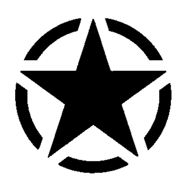 640x640 Allied Star Silhouette Vinyl Sticker Decal Car Styling For Wall