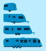 189x210 Modern Caravan Premium Clipart