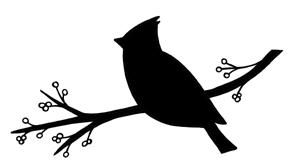 293x165 Cardinal Silhouette Cardinal Bird! Simple By Design