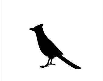 340x270 Cardinal Bird Decal Etsy