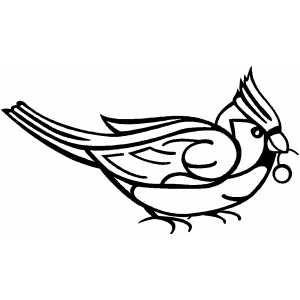 300x300 Free. Red Cardinal Bird. Cardinal Step 12. Cardinal Craft. Vector