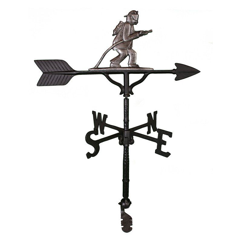800x800 Swedish Iron Fireman Weathervane