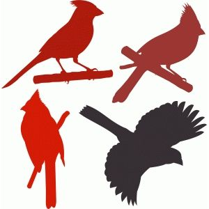 Cardinal Silhouette Clip Art