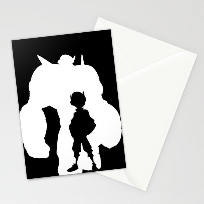 700x700 Big Hero 6 Silhouette Stationery Cards By Travislove Society6