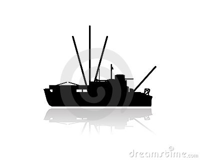400x320 Fishing Boat Silhouette Clip Art Clipart Panda