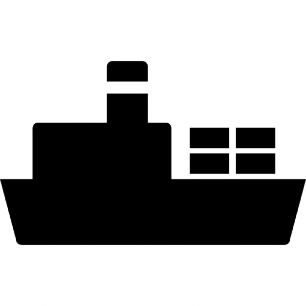 626x626 Ship With Cargo Silhouette Icons Free Download