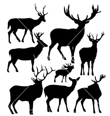 380x400 Deer Silhouettes Vector Silhouette Silhouette