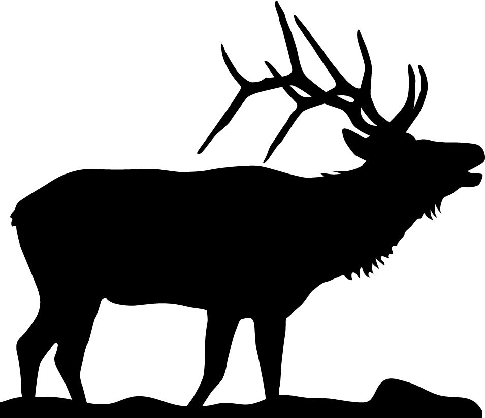 955x824 Elk Silhouette Tattoo But Have The Back White Space Look Like