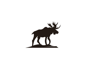 300x240 Horned Animals Silhouette Collection Deer Stag Moose Caribou