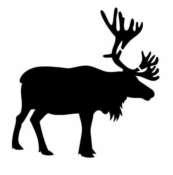 570x578 Pack Of 3 Caribou Reindeer Stencils Made From 4 Ply Mat Board