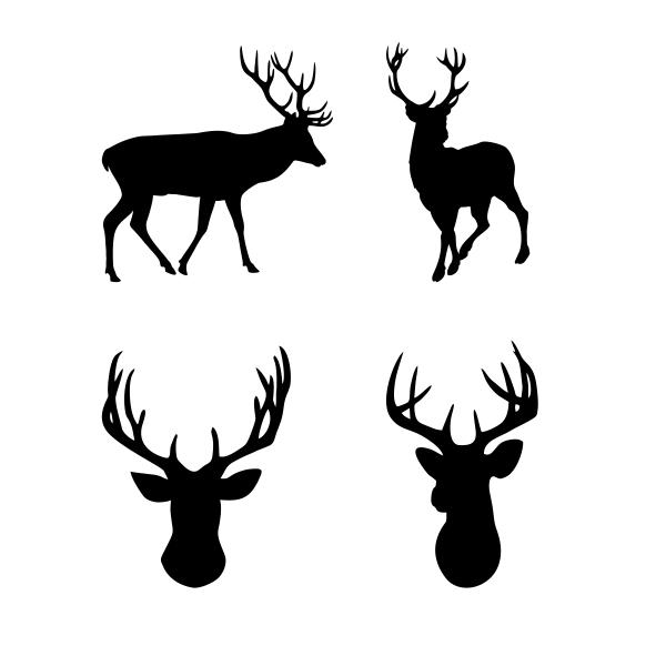 600x600 Reindeer Silhouette Cuttable Design