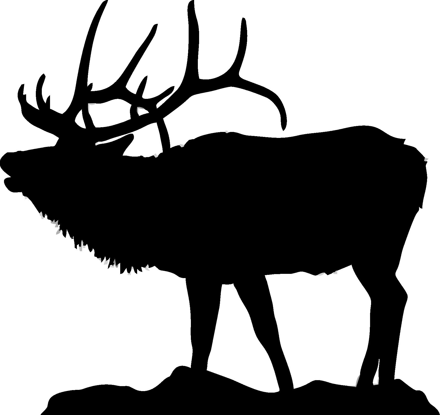 1768x1667 Silhouette Of Elk For Flat Bottom Bowls Httpwww.clipartpanda