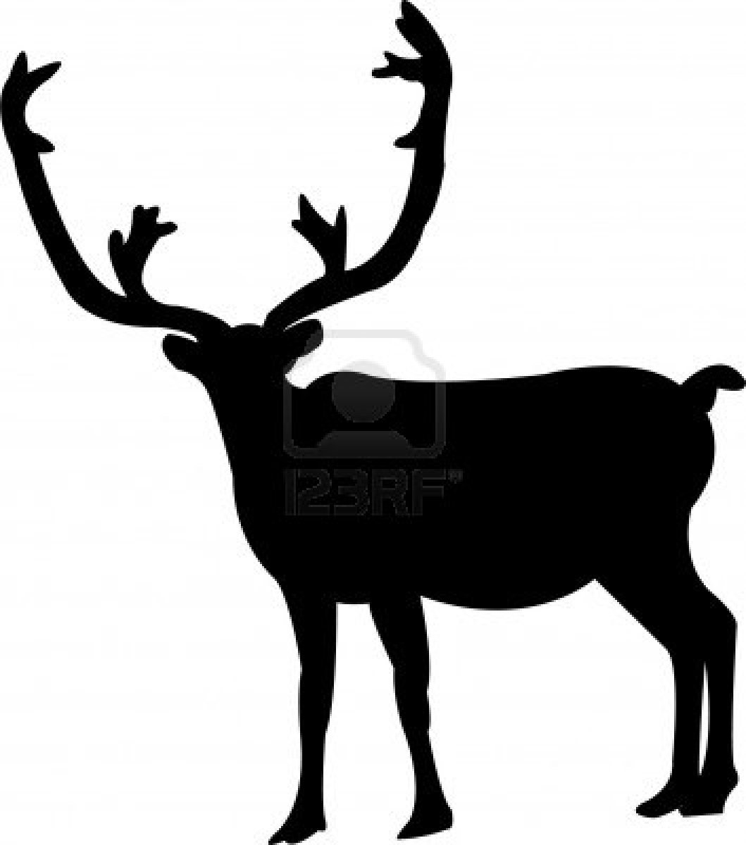 1059x1200 Caribou Outline Silhouette For Wool Stocking H O L I D A Y S