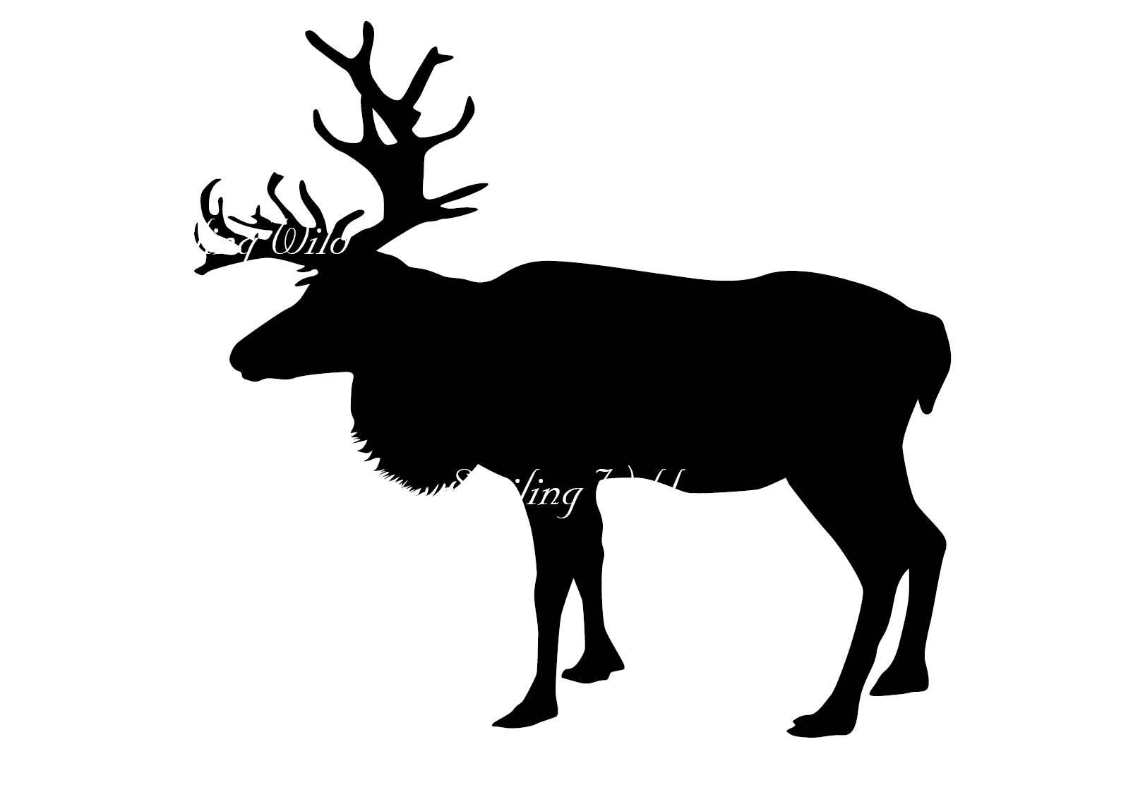 1588x1123 Caribou Silhouette Reindeer Svg Santa Claus Christmas Deer Cut Out