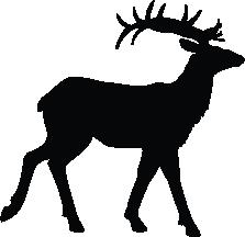 223x216 Caribou Silhouette