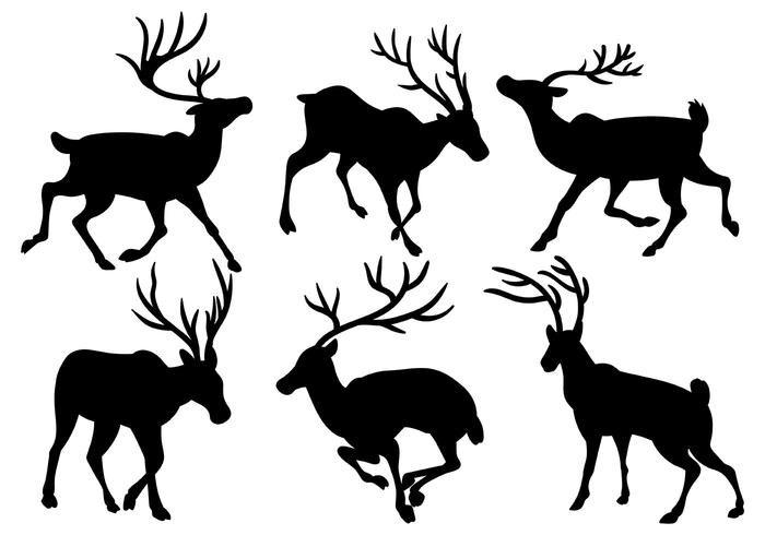 700x490 Caribou Vector Icons