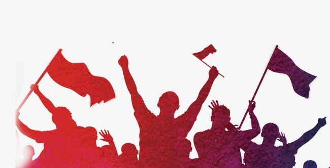 650x332 Cheers Color Silhouette, Cheer, Enthusiasm, Carnival PNG Image and