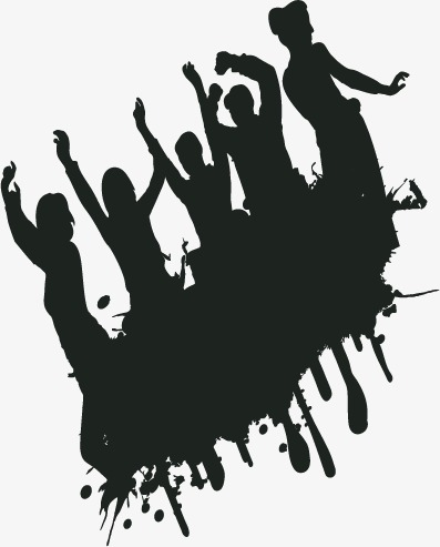 397x493 Silhouette,carnival,wave,musical Elements, Silhouette, Carnival