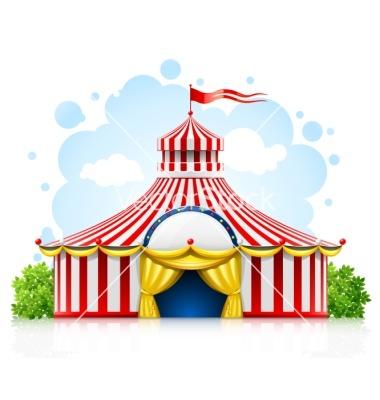 380x400 silhouette clip art circus tent