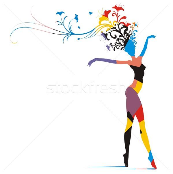 599x600 Carnival Woman Silhouette vector illustration © HouseBrasil