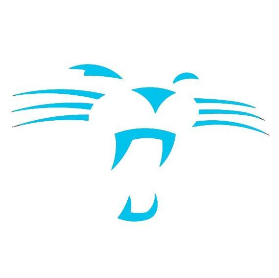 570x569 Carolina Panthers, Whiskers Die Cut Decalsticker Cricut