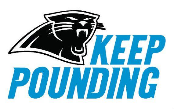 570x357 Carolina Panthers Keep Pounding Logo Vinyl Decal Great For Yeti