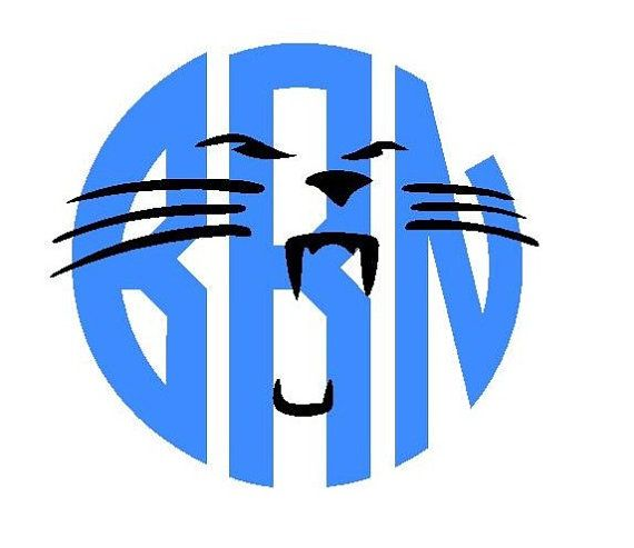 570x493 Carolina Panthers Monogram Vinyl Decal Htv Shirts