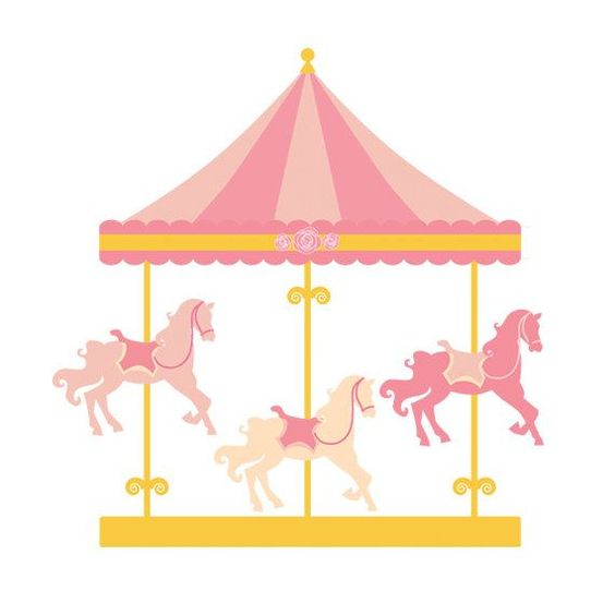 564x564 Pink Carousel Horse Clipart