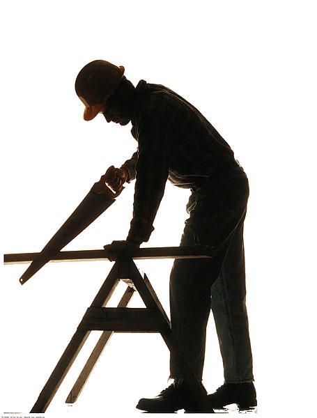 455x600 Silhouette Carpenter Wood Artisan