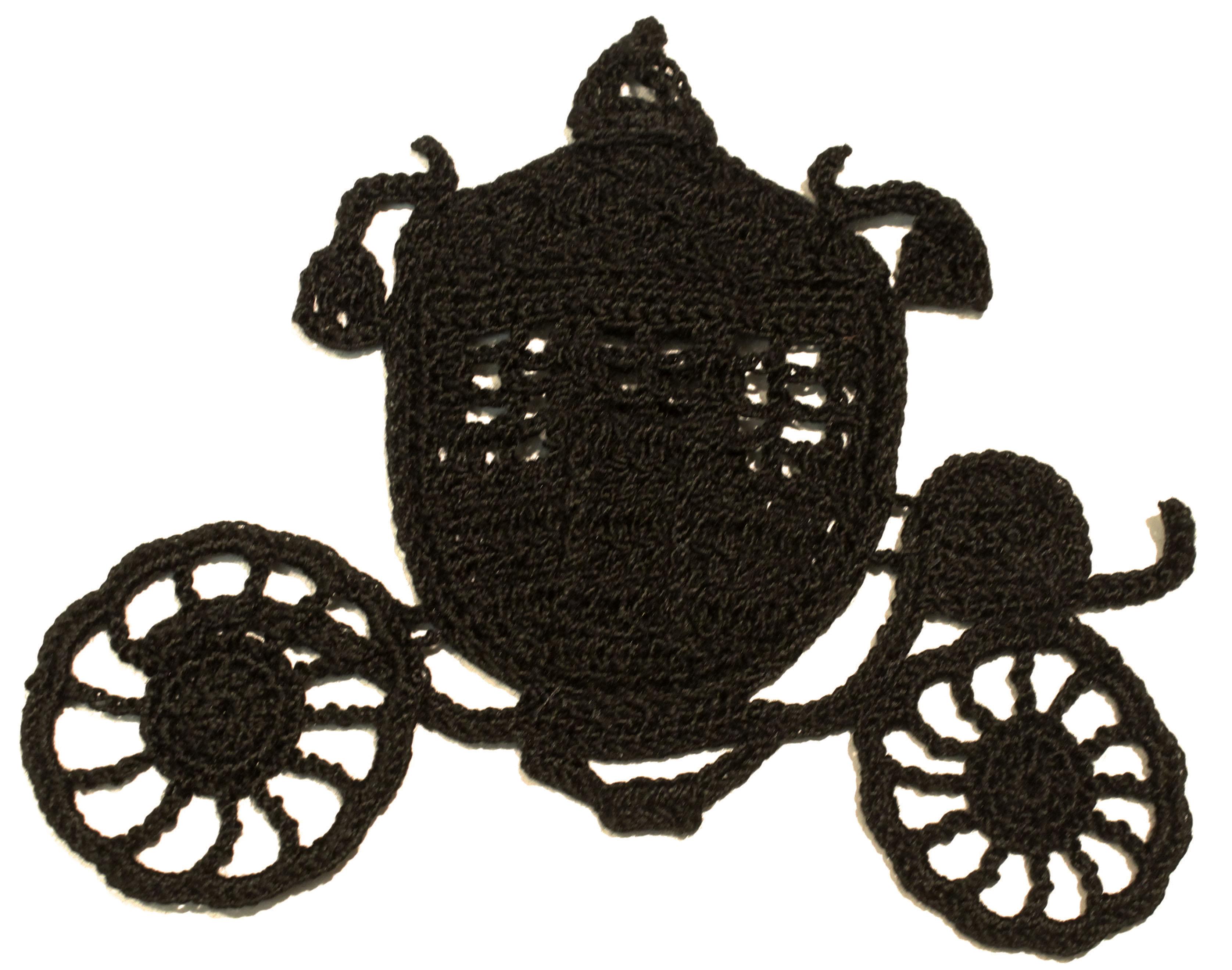 3352x2640 Crochet Victorian Carriage Silhouette Crochet Thread