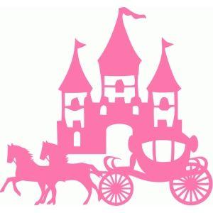 300x300 Silhouette Design Store Princess Castle Horse Carriage