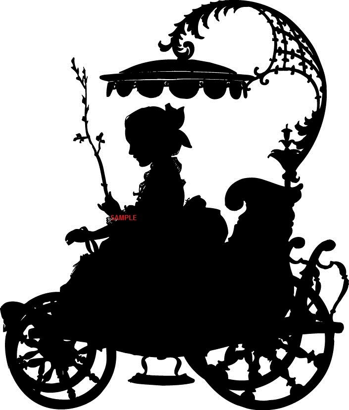 705x829 Victorian Carriage Lady Cross Stitch Chart Now