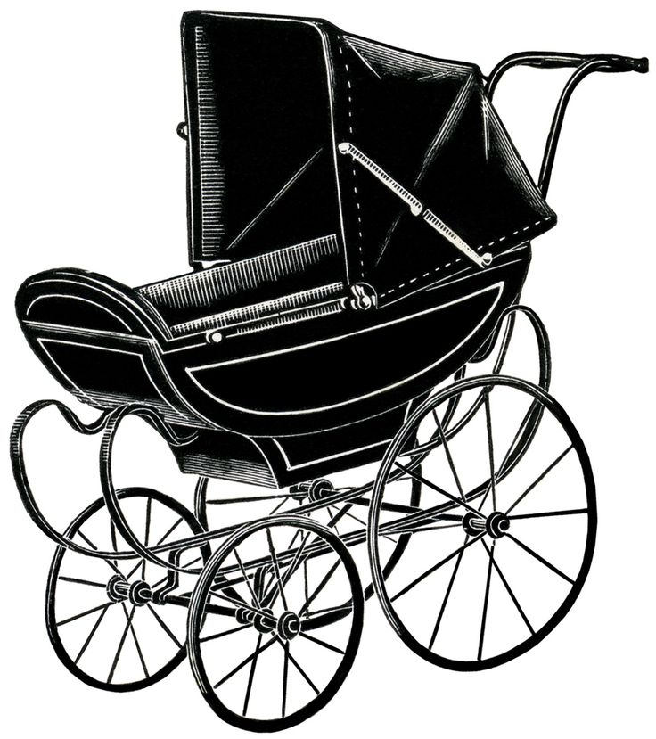 736x829 Vintage Silhouette Baby Clipart Collection