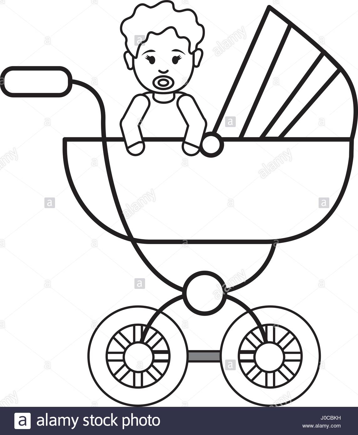 1145x1390 Silhouette Baby Girl Inside Carriage Icon Stock Vector Art
