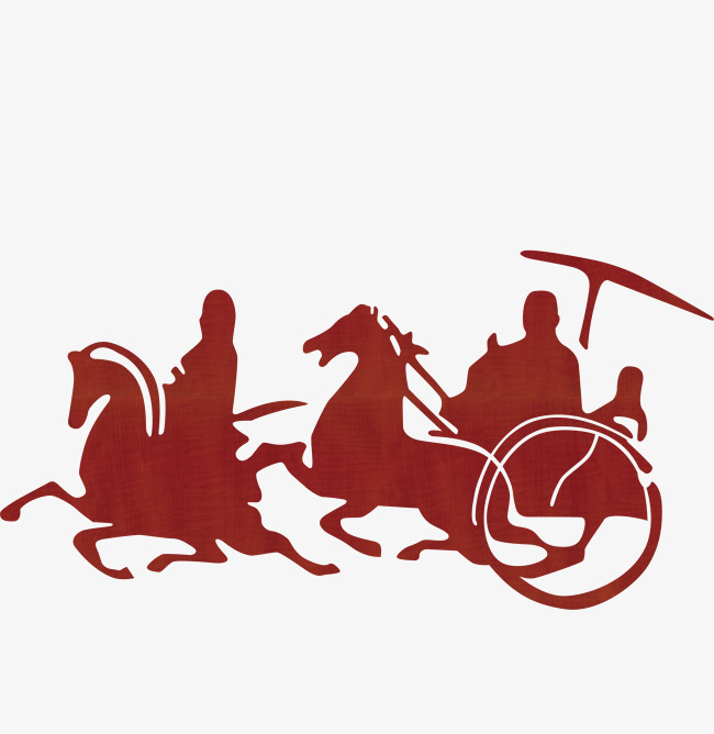 650x668 Carriage Silhouette, Red, Ancient, Carriage Png Image And Clipart