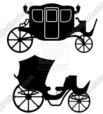 362x400 Carriage For Transportation Of People Silhouette Isolated On White