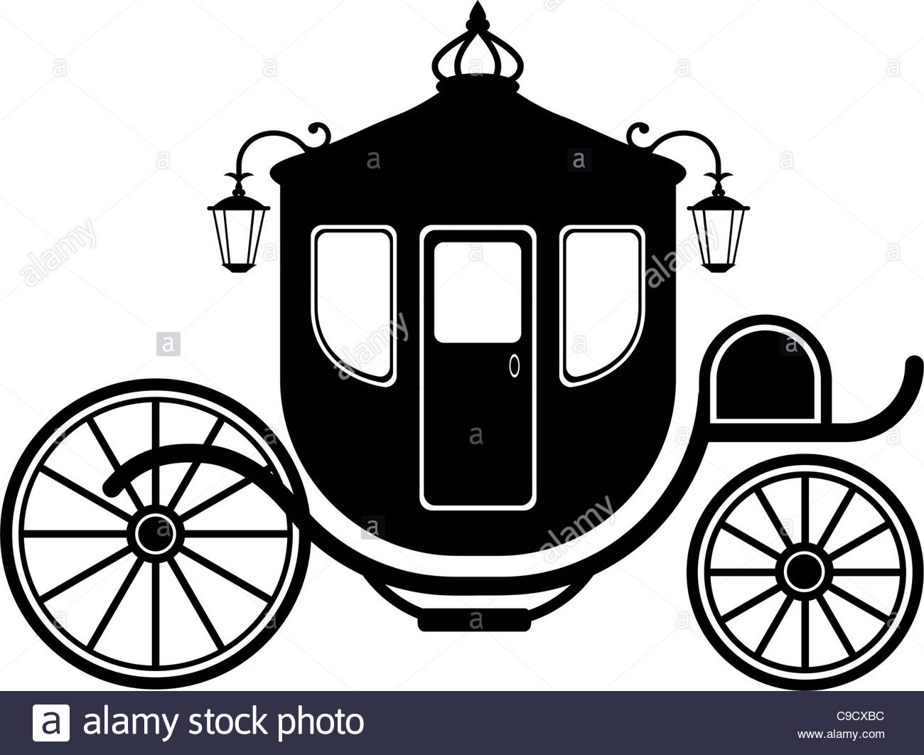 1300x1062 Carriage In Silhouette Stock Photo, Royalty Free Image 40236768