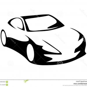 300x300 Stock Illustration Modern Car Silhouette Vector Front View Image