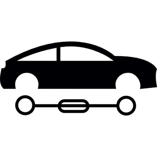 626x626 Car Silhouette With Detached Wheels Icons Free Download