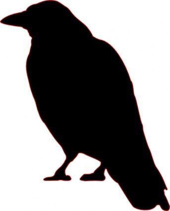 343x425 Animals Outline Silhouette Cartoon Birds Bird Crow Flying Animal