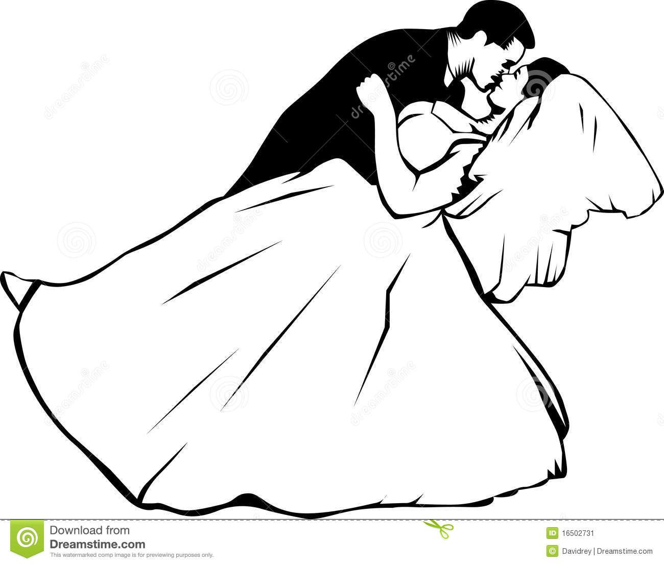 1300x1106 Bride And Groom Kissing Stock Image
