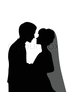 239x320 Cartoon Bride And Groom. Vector Clip Art Illustration With Simple