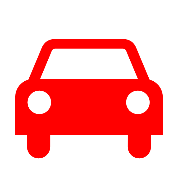 600x600 Red Car Silhouette Clip Art