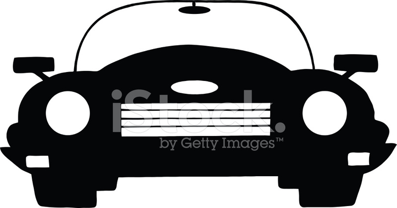 799x419 Silhouette Of Car Stock Vector