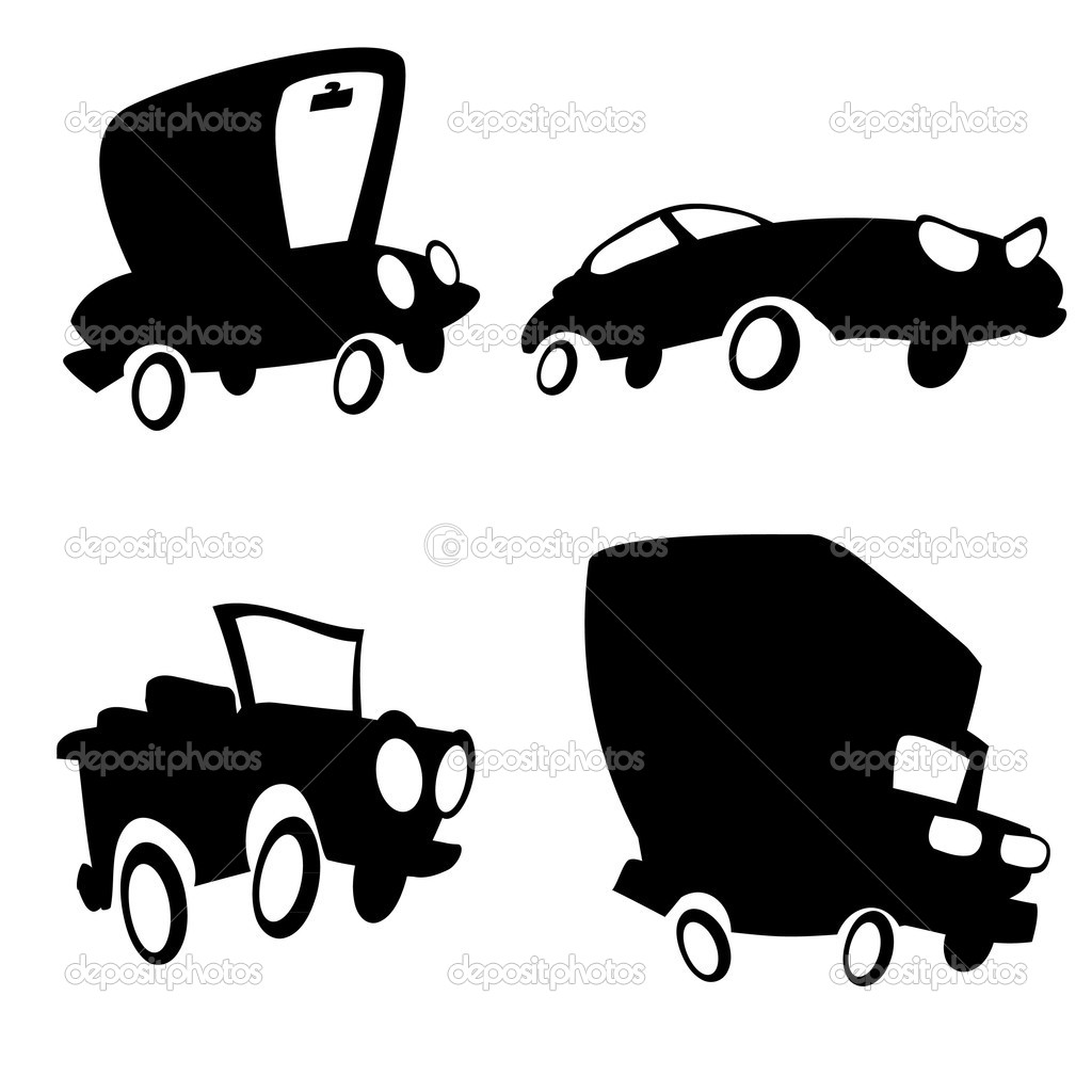 1024x1024 Cartoon Cars Black Picture, Cartoon Cars Black Wallpaper