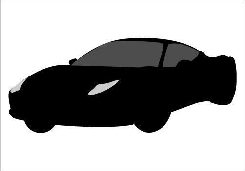 502x351 Clipart Car Silhouette